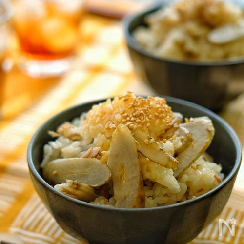 「京風割烹白だし」で*ツナとごぼうの炊き込みご飯*