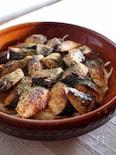 焼きサバと刻み野菜の黒酢マリネ
