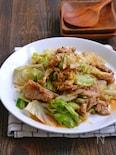 ねぎと生姜を効かせたキャベツと豚こまの旨味噌炒め