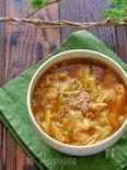柔らか鶏肉とたっぷりキャベツのとろみカレースープ