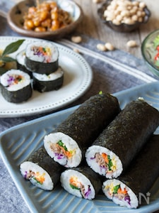 甘辛牛肉&お野菜たっぷりのカラフル巻き寿司・恵方巻き
