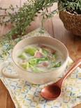 春キャベツとベーコンのミルクスープ