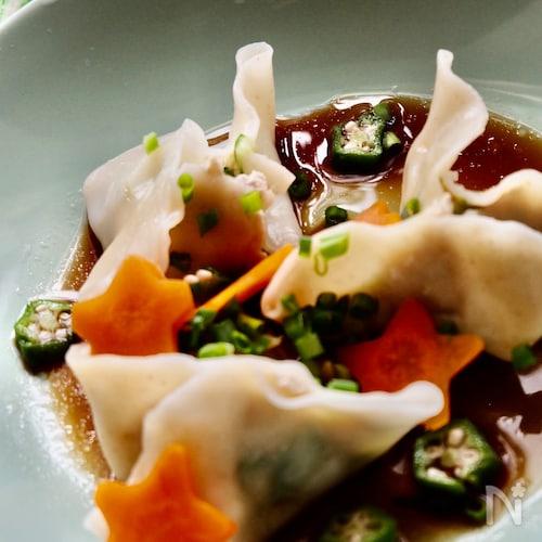 七夕に‼️ お豆腐とおから入りのシャキシャキ水餃子‼️