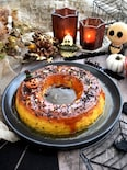 大人ハロウィン!カラメルソースたっぷりパンプキンチーズケーキ