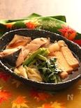 秋鮭と厚揚げのすき焼き風【#フライパン #旨味たっぷり】