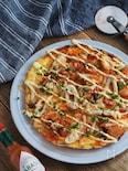 キムチチーズのピザ風オムレツ【簡単・おつまみ・節約】