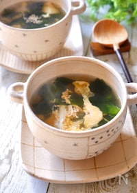 『『我が家の簡単わかたまスープ』』