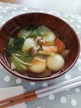 豆腐白玉とお野菜のスープ