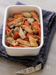 根菜とちくわとお揚げの煮物。