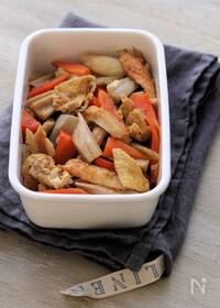 『根菜とちくわとお揚げの煮物。』