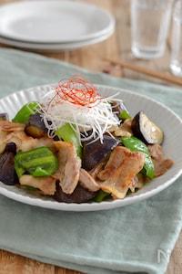 豚バラとナスのあごだしつゆ炒め。簡単!ご飯が進む和風おかず。