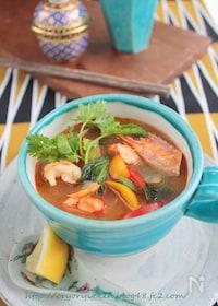 『トムヤムmisoスープ§お味噌汁の残りで美味!トムヤムクン』