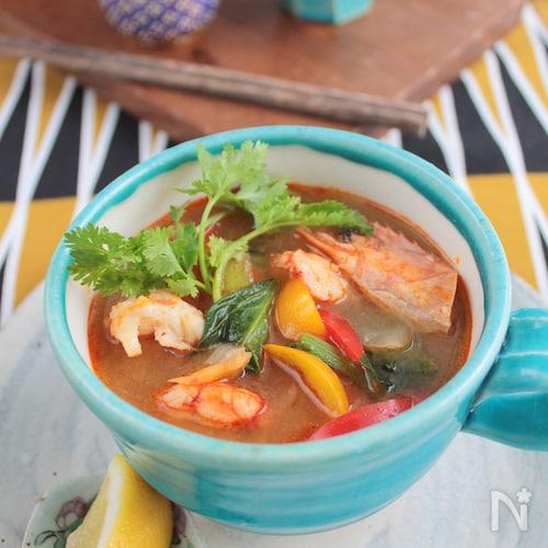 トムヤムmisoスープ§お味噌汁の残りで美味!トムヤムクン