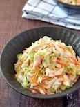 彩り豊か♡ささみと細切り野菜のごまだくマヨポンサラダ
