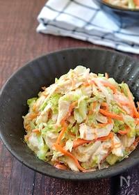 『彩り豊か♡ささみと細切り野菜のごまだくマヨポンサラダ』