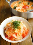 新生姜とトマトの蟹かま卵餡