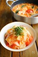 新生姜とトマトの卵餡