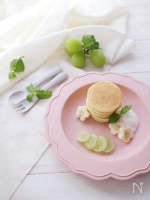 【離乳完了期・幼児食】卵不使用 メープルコーンのパンケーキ