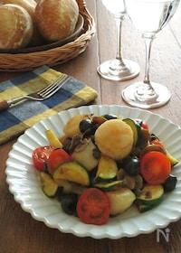 『ワインによく合うイタリアン♪ほたてとオリーブの白ワイン風味』