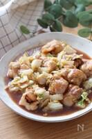 タレが絶品!ご飯が進む♡白菜と鶏肉の照り炒め