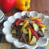 ごはんがすすむ◎夏野菜と牛肉の黒こしょう炒め☆お弁当にも◎