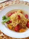 しらすとフレッシュトマトのペペロンチーニ