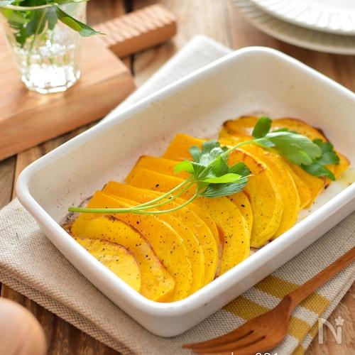 バターナッツかぼちゃのオーブン焼き。甘い!簡単な秋の副菜♪