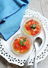 『冷製トマトあんかけ豆腐』