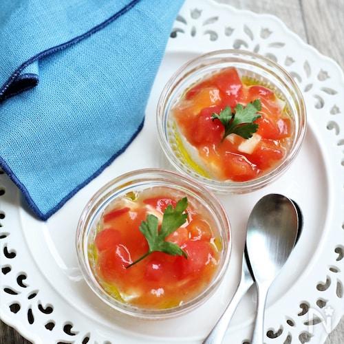 冷製トマトあんかけ豆腐