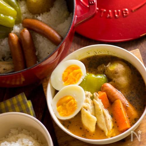 ごはんと炊き込むスープカレーの具【STAUBレシピ】