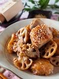 ご飯がススム*鶏むね肉とれんこんのシャキッとガリバタ炒め