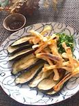 シンプルが美味しい♡なすとカリカリお揚げの生姜醤油だれ