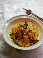 病みつきツナ缶旨味アップ!野菜たっぷり中華こんにゃく麺サラダ