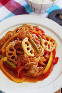 【人気のスタミナおかず】切り落とし肉とたっぷり野菜の酢豚