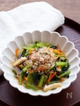 シンプルが美味しい!ごま油香る~小松菜と油揚げの煮浸し