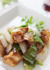 『鶏肉とピーマンのバルサミコ酢鶏』