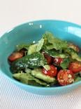 たたききゅうりとトマトのパクチーまみれ