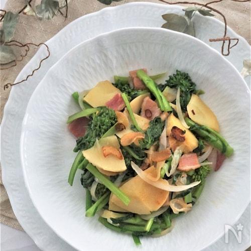 筍と菜の花のペペロンチーノ