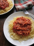 サバ缶とトマトのコクうまパスタ