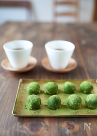 『【材料3つ、レンジでできる】抹茶トリュフ』