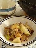 豚小間肉とセロリのオイスターソース炒め。