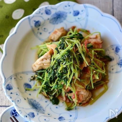 鶏むね肉と豆苗の中華和え【作りおき】