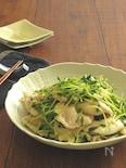 しっとりふっくら◎鶏むね肉と豆苗のさっぱり塩炒め