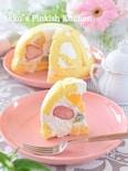 超~簡単♡フルーツドームケーキ(1分動画付き)