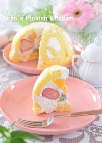 『超~簡単♡フルーツドームケーキ(1分動画付き)』