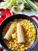 【もち麦モチモチ】☆お鍋で簡単バターとうもろこしご飯☆