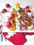 野菜ガーランドのマッシュポテトツリー🌲