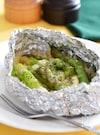 アスパラとチーズのホイル焼き。フライパンで簡単♪