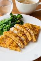 包まず簡単♪食感もポイント!『長芋とベーコンの和風オムレツ』