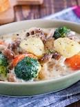 ルー不使用♪『鶏肉とゴロゴロ野菜の味噌クリームシチュー』
